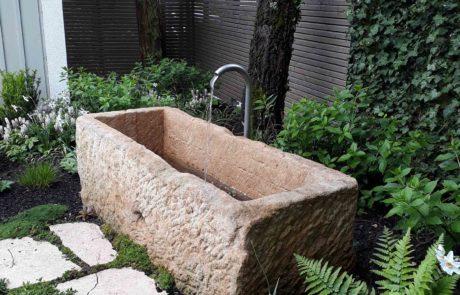 Wasser Stein Becken Ehmke